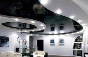 Двух-уровневые натяжные потолки без использования гипсокартона